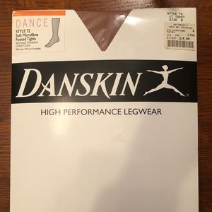 Danskin Soft Microfiber Footed Dance Tights Size B
